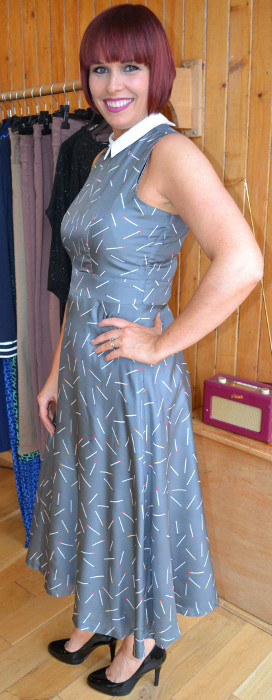 Emily Lovelock Grey Dress