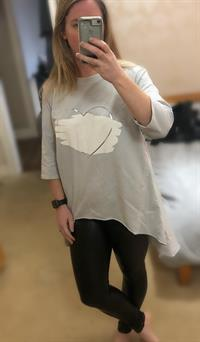 Paint Splashed Heart Tunic