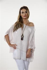 Layered Linen Top