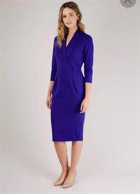 Purple Wrap Pencil Skirt Dress